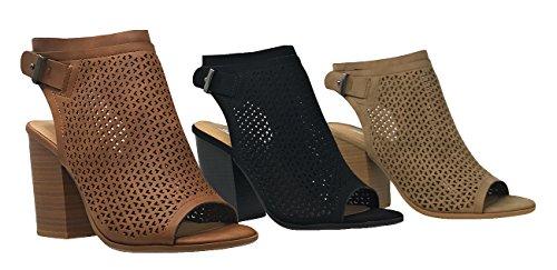 MVE-Shoes-Stack-Block-Heel-Perforated-Pattern-Shootie-Western-Bootie-Sandal