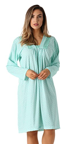 - 6085-9-S Just Love Nightgown / Women Sleepwear / Womans Pajamas,Mint Mini Hearts,Small