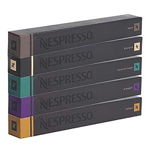 NESPRESSO Capsule Originali Caffe Assortimento, 50 Capsule - 10x Roma 10x Ristretto 10x Fortissio 10x Arpeggio 10x…