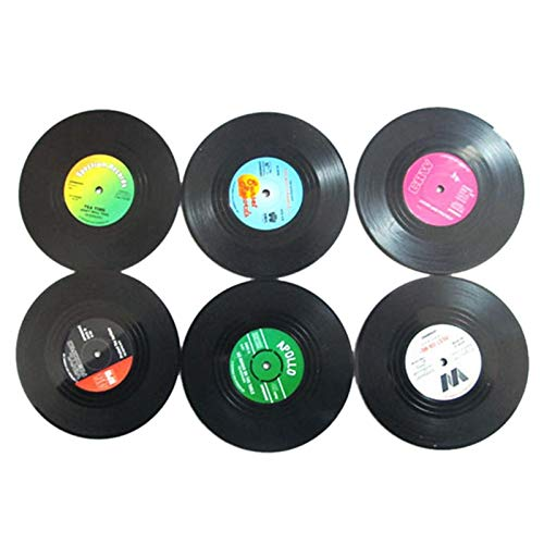 Mat Placemat - Brand 6 Pcs Vinyl Coaster Groovy Record Cup Drinks Holder Mat Tableware Placemat - Record Space Zenpad 6 T Disco Z581kl Vinyl Drive Outdoor Cover Placemat Control - Groovy Record