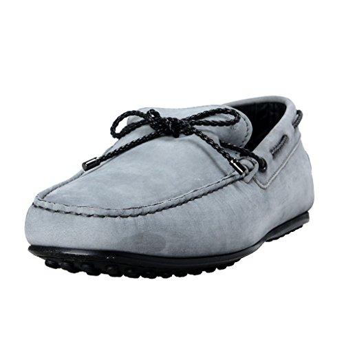 Tods Mens Grå Läder Båt Skor Grå