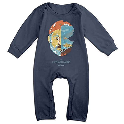 OLGB Babys Zissou Bill Murray Long Sleeve Bodysuit Outfits 24 Months