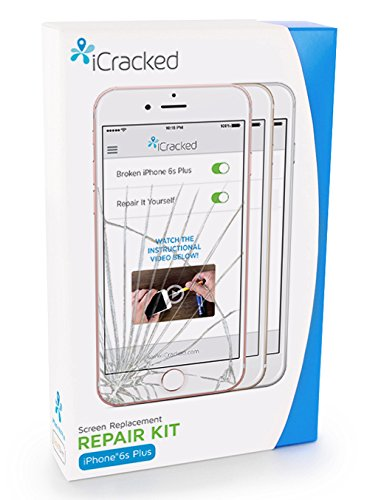iCracked iPhone 6S Plus Screen Replacement Kit (AT&T/Verizon/Sprint/T-Mobile) - Retail Packaging - White