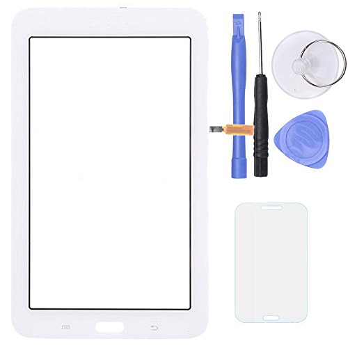 SPHENEL Digitizer Touch Screen for Samsung Galaxy Tab 3 Lite 7.0 T110 (No Earpiece Hole - White) (Lcd For Samsung Tab 3)