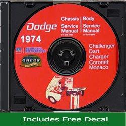 (1974 Dodge Car Shop Service Repair Manual CD (with Key Chain))