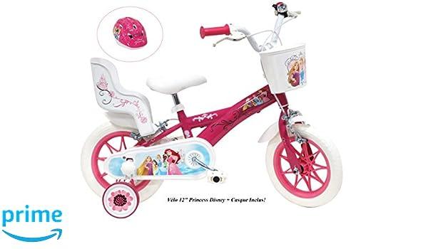 Bicicleta de Princesa Disney para niña, 12 Pulgadas: Amazon ...