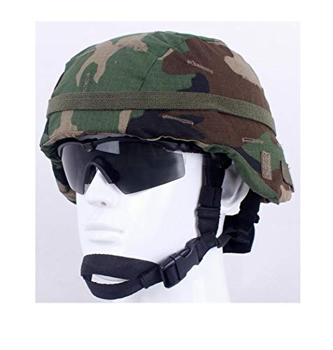 - Jadedragon Camouflage Helmet  Cloth/Helmet Cover with Elastic Band for The ACH/MICH Helmet One Size (Woodland Camouflage)