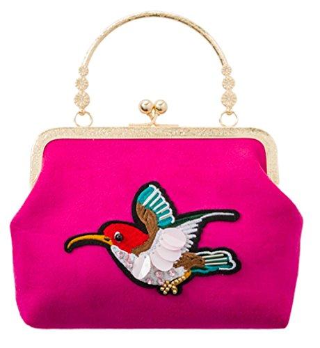 Girly Bird HandBags Humming Fuchsia Girly Bag Clutch HandBags fZqHZ