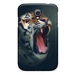 Excellent Design Outlined Tiger Phone Case For Galaxy S4 Premium Tpu Case