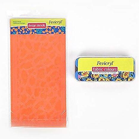 Pidilite Fevicryl Fabric Colour Kit (10 X 15Ml) With 3 Unique Stencils