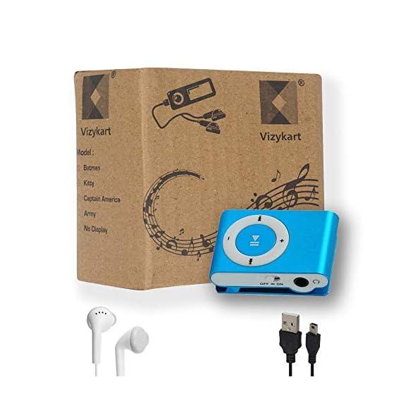 Vizykart Portable Digital Mp3 Music Player + Earphone + No Display + USB Cable + Audio Song Player