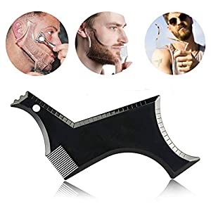 BOXO Salon Accessories Beard Shaper Comb for Boys and Comb 15 gm Black Pack of 1 (Beard Comb-1)