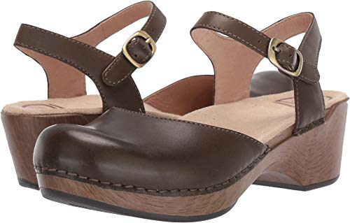 - Dansko Women's Sam Olive Burnished Calf 41 Regular EU