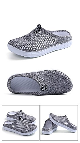 Casual Summer Mesh Amphibious Tomwell Sandals Shoes Slippers Cloth Aqua on Breathable Flip Shoes Women Grey Anti Clogs Flops Slip Net Beach Slip fqqBwFU5
