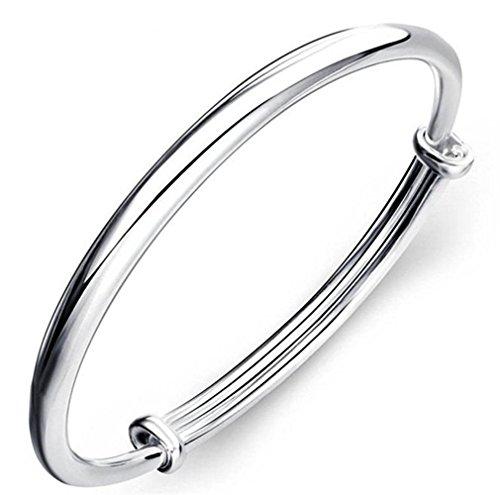 NYKKOLA New Fashion Beautiful 925 Jewelry Classic Solid - Men 925 Silver Bracelet