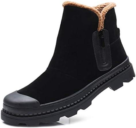 ムートンブーツ おしゃれ 冬靴 スノーブーツ革靴 メンズ サイドジッパー カジュアル 安定感 プレゼント 裏起毛 ハイカット ハイキングくしゅくしゅ 復古 おしゃれ 秋靴 冬靴 レインブーツデザートブーツ