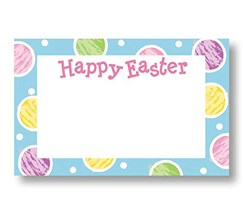 Burton & Burton Happy Easter Enclosure Cards with Envelopes Bulk Set, Pack of 50