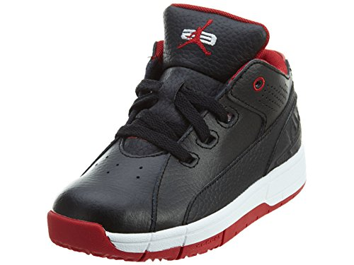 (Jordan Ol School Low Toddlers Style, Black/Gym Red/White, 5)