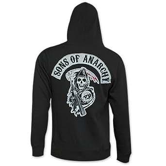 sons of anarchy reaper crew men 39 s hoodie. Black Bedroom Furniture Sets. Home Design Ideas