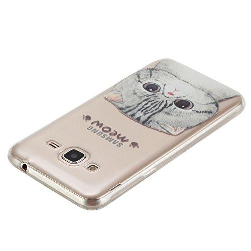 Qiaogle Teléfono Caso - Funda de TPU silicona Carcasa Case Cover para Huawei Y5II / Y5 2 (Two) 2016 (5.0 Pulgadas) - HX22 / Azul atrapasueños HX19 / Meow Meow