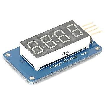 para Kits Arduino 4 bits Digital del Tubo llevó módulo de visualización con tm1637 Pantalla del Reloj para pi Frambuesa Arduino: Amazon.es: Electrónica