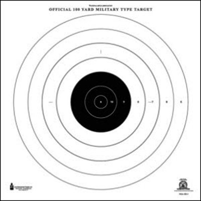 "24 Pcs, Official Nra 100-Yard High Power Rifle Slow & Rapid Fire Target (Sr-1) Printed On Heavy Weight (Tag) Approved Nra Paper 21"" X 21"""