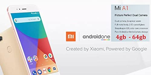 Amazon com: Xiaomi MI A1 (64GB, 4GB RAM) with Android One & Dual