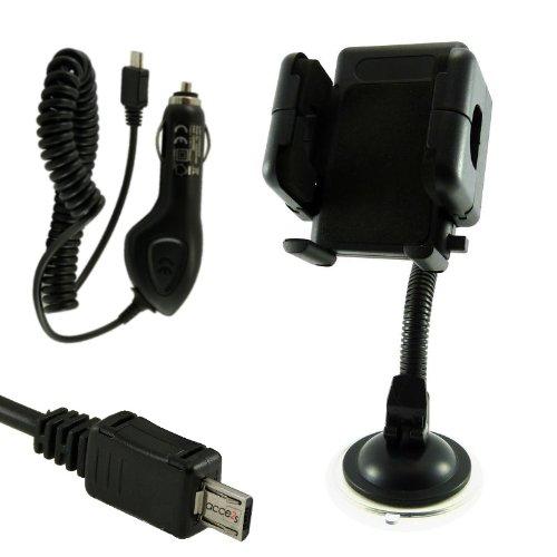 Acce2S-Set supporto auto per Crosscall Trekker M1+ caricatore Micro USB 1A