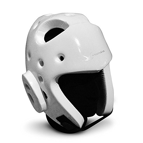 whistlekick Martial Arts Sparring Helmet (Stratus White, X-Large) with Industry Leading Warranty-Taekwondo Martial Arts Sparring Equipment Gear Set
