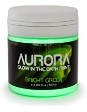 SpaceBeams Glow in The Dark Paint, 1.7 oz (50ml), Aurora Bright Green, Non-Toxic, Water Based