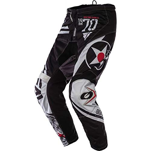 O'Neal Racing Element Wild Boy's Off-Road Motorcycle Pants - Black/White/Size YTH 28