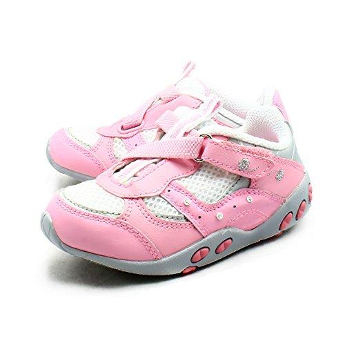 SendIt4me Kinder Rosa Leder Innen Verstellbare Befestigung Trainer Pink