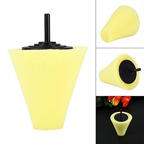 1x Sponge Cone Metal Polishing Foam Pad Wool Buffing: ZFE 3Pcs 1/4''/6mm Shank Sponge Cone Metal Polishing Foam