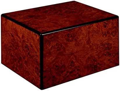 Chateau Urns Society Collection, Wood Urn, Large Adult Cremation Urn, Burl Wood Finish
