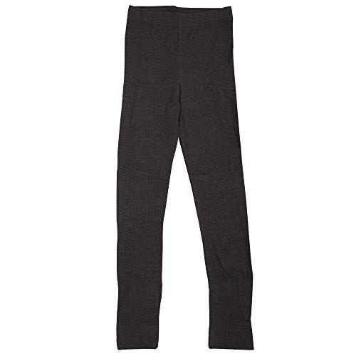 Universal Textiles Childrens Boys Plain Thermal Long Johns (11/12 Years) (Dark Grey)