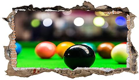 S467 Mesa de Billar Bolas Deportes Smashed Adhesivo Pared 3D Arte Pegatinas Vinilo habitación (tamaño Mediano (52 x 30 cm)): Amazon.es: Hogar