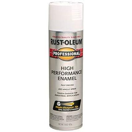 Rust-Oleum 7592838 Professional High Performance Enamel Spray Paint, 15 oz,  Gloss White