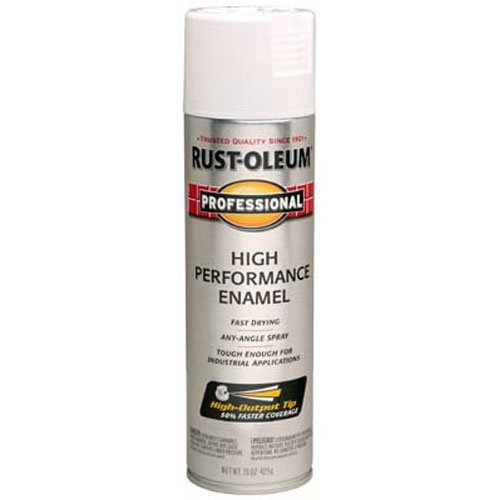 Rust-Oleum 7592838 Professional High Performance Enamel Spray Paint, 15 oz, Gloss White (White Rustoleum Spray Paint)