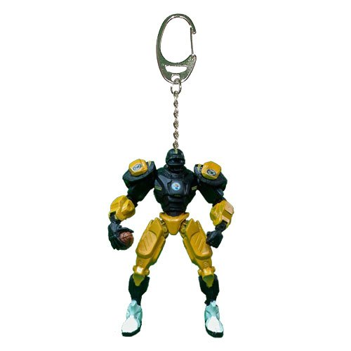 NFL Pittsburgh Steelers Fox Sports Team Robot Key Chain, 3-inches ()