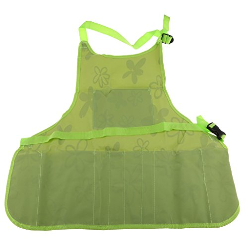 Fityle Utility Work Apron Tool Pocket Woodworking Gardening Craft Mechanic Woodshop Pockets Aprons Green/Brown Select - Green, 60x65x2cm by Fityle (Image #4)