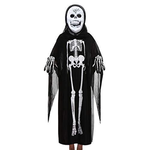 Sameno Halloween Cosplay Costume Family Outfits Set, Toddler Boys Girls Women Men Cloak+Mask+Gloves Outfits Set (C) (D) -