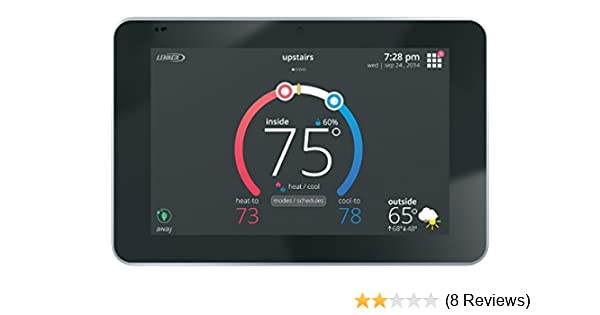 lennox 12u67 icomfort s30 ultra smart programmable thermostat, geo-fencing,  remote access, wi-fi and alexa enabled - - amazon com