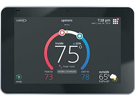 Lennox 12U67 iComfort S30 Ultra Smart Programmable Thermostat, Geo-Fencing, on