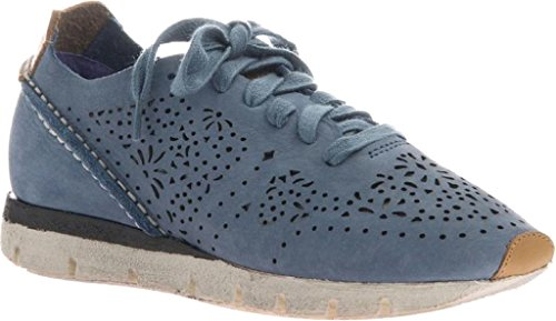 Otbt Dames Khora Sneakers Elektrisch Blauw Leer