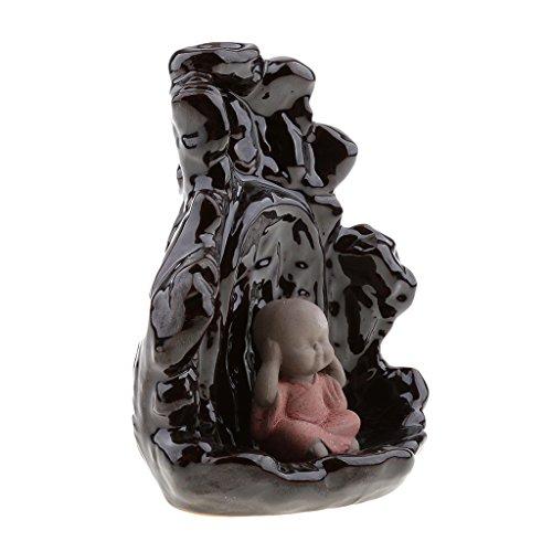 MonkeyJack Porcelain Thai Buddhist Smoke Backflow Incense Burner Porcelain Cones Holder by MonkeyJack