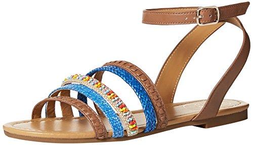 Jack Hannah Rogers Cognac Women's Sandal Flat q8vCw8