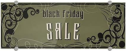 Black Friday Sale Victorian Gothic Premium Acrylic Sign 8x3 CGSignLab