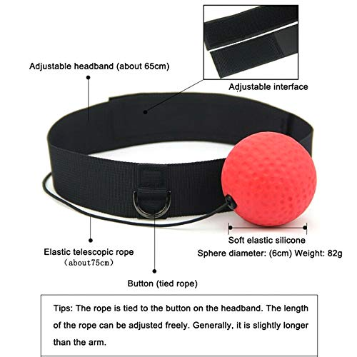 Liamostee React Reflex Ball Kidte Training Head-Mounted Boxing Portable Raising Reaction Force
