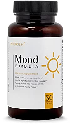 Natural Anxiety Relief, Stress Relief, & Mood Support Supplement with Ashwagandha, GABA, 5-HTP, Chamomile, and DMAE.