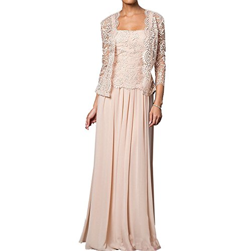 8eeadc78732 ... Dresses H.S.D Mother of the Bride Dress Chiffon Long Formal Gowns with  Jacket Champagne 16W.   